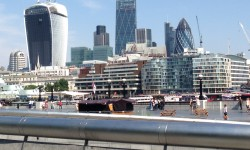 From Southbank, taking in the city of London