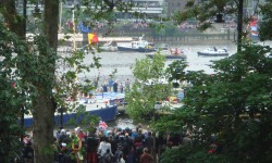 River Event on Thames from a Balcony in Chelsea.